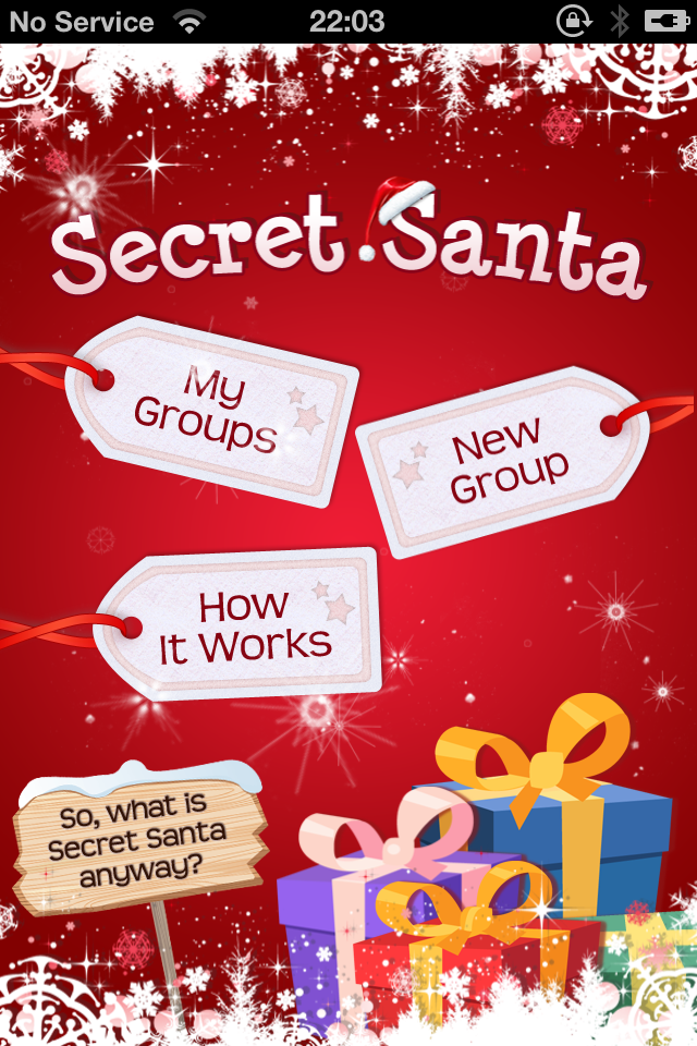 A Beautiful Secret Santa app for iPhone with a secret online wish ...